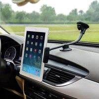 Brazo largo 3.5-5.5 pulgadas Teléfono Móvil y 9-10 pulgadas Tablet PC soporte de Montaje Del Parabrisas del coche auto Cuna Soporte Para iphone 7 plus 8 ipad