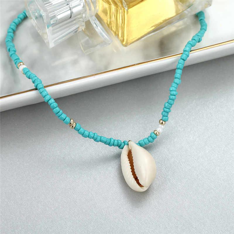 India clásica azul de la joyería de collar de cadena de moderno collar de las mujeres es Simple collar de Gargantilla al por mayor collar de Bohemia