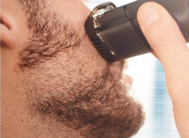Professional Vacuum beard trimmer hair clipper for men trimer mustache shaping tool beard shaving shaper machine grooming set 1
