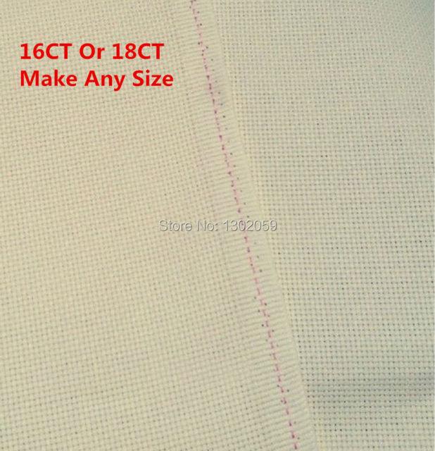 US $10 9 20% OFF|Factory Shop 0 5*0 5m Beige Cream Coloured Cream Buff  Embroidery Cross Stitch Canvas Fabric Aida Cloth 16CT Or 18CT-in Aida Cloth