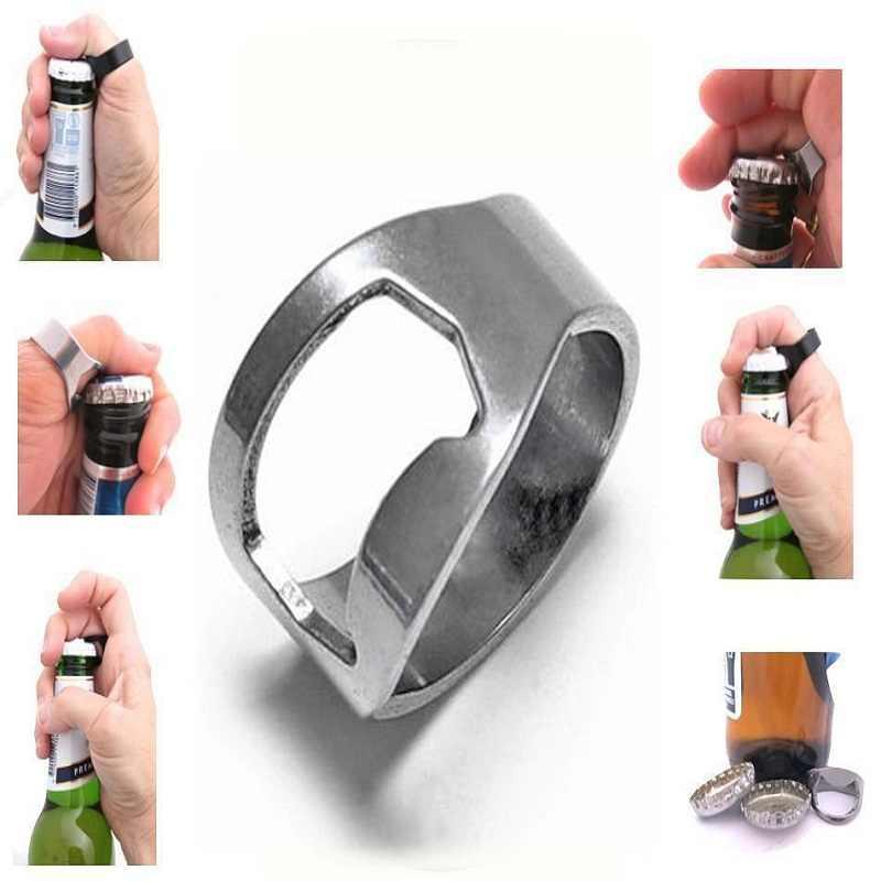 เย็นผู้ชายโลหะ0.88นิ้วแหวนเบียร์ที่เปิดขวดไวน์เครื่องมือ