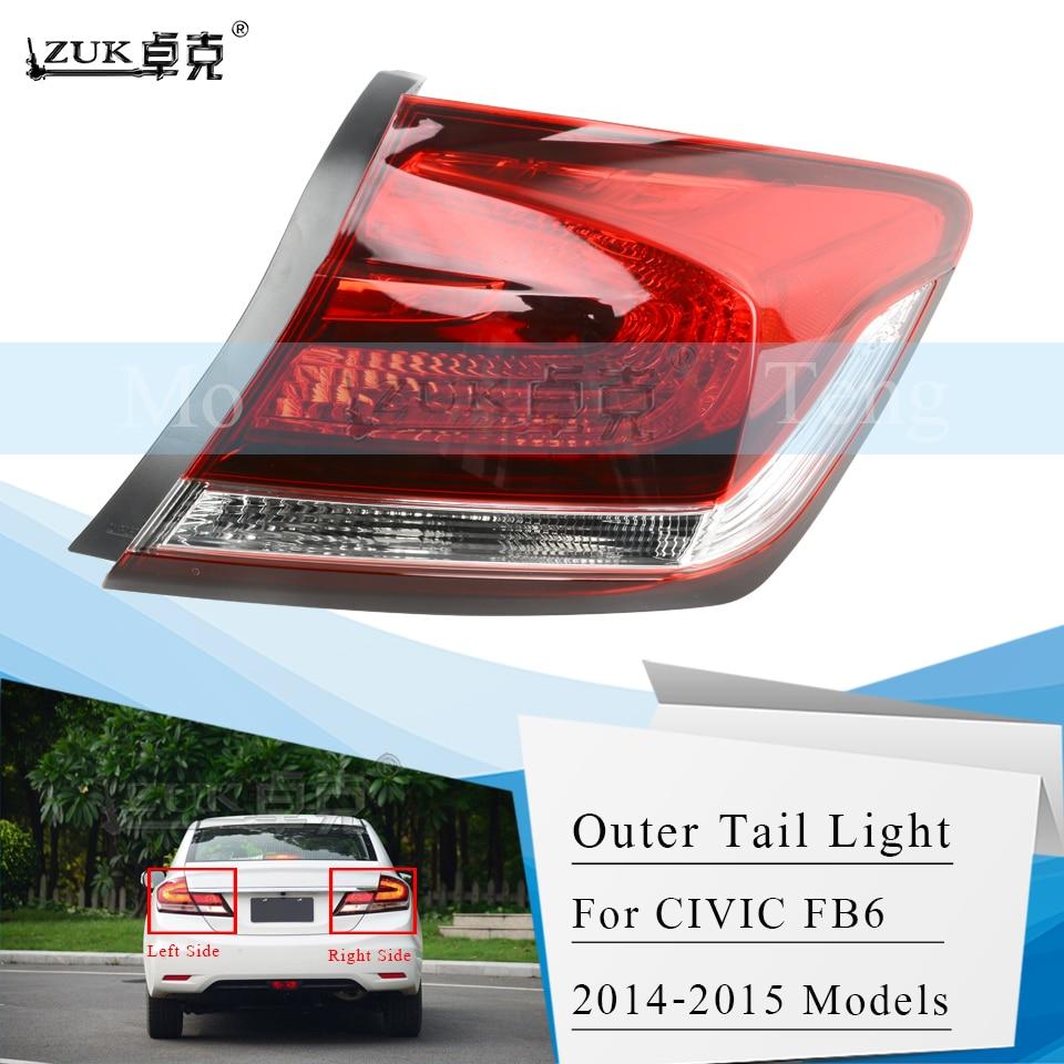 ZUK Brand New Left Right Tail Light Tail Lamp Rear Light Lamp For HONDA CIVIC FB2