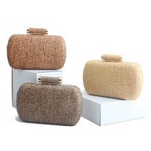 New Fashion Wallet Straw Bag Handbags Rattan Bag Handmade Woven Summer Travel Beach Bag Luxury Handbags Women Bags Designer Top цена в Москве и Питере