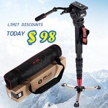 JIEWANG JY-0506 Алюминиевая профессиональная моноподная видеокамера для фотокамеры с штативом для переноски головного телефона Бесплатная доставка JY0506