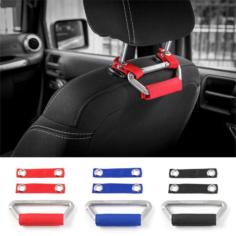 SHINEKA 4x4WD Armrest Seat Grab Handles Grip Bar Pulling Handle for Jeep Wrangler CJ TJ JK Sports Sahara Rubicon Car Styling