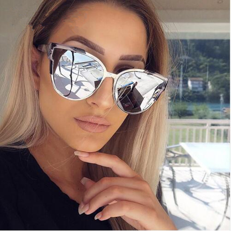 Realstar 2018 Brand Cat Eye Sunglasses Women Luxury Designer Vintage Pink Mirrored Sun Glasses Fashion Shades Oculos Uv400 S150 And Digestion Helping Women's Sunglasses Back To Search Resultsapparel Accessories