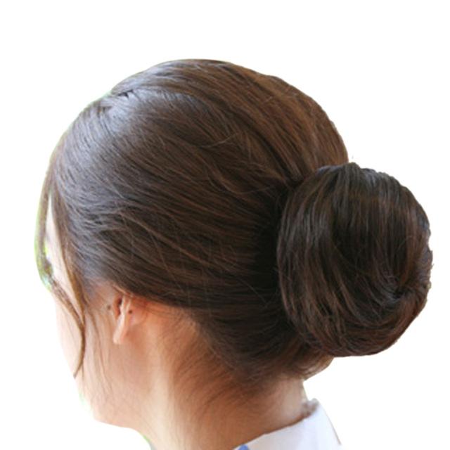 Dark Brown Hairpiece Bun