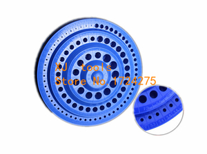 Image 2 - Broca em plástico resistente, organizador de plástico redondo, ferramenta de 100 furos