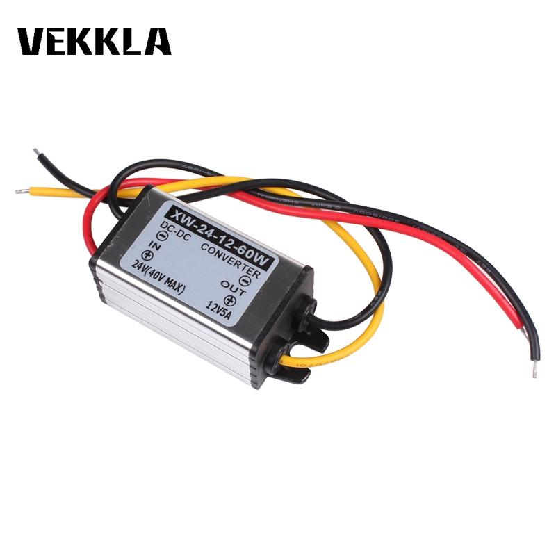 Waterproof Truck Car Converter DC 24V To <font><b>12V</b></font> 5A 60W Step Down Power Converter Supply <font><b>Adapter</b></font> Buck Module Regulator image