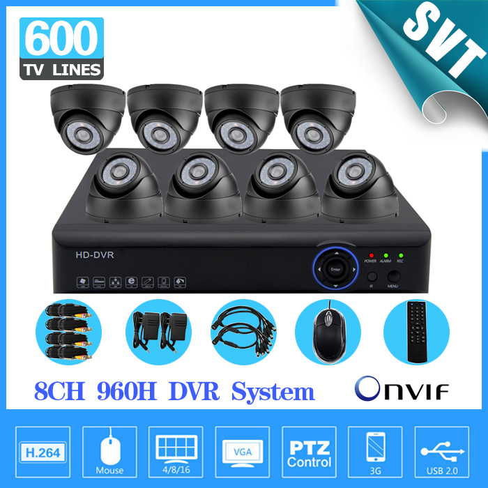 8 channel cctv kit 8 pcs IR indoor dome camera dvr nvr security video surveillance system 8ch with HDMI 1080P keeper 700tvl 4ch home video cctv surveillance system kit for analog camera 2pcs outdoor indoor dome 20m ir security camera