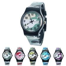Casual Children Round Dial Plastic Strap Analog Quartz Wrist Watch Gift Use Part