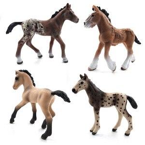 Image 3 - محاكاة نماذج للحيوانات الخيول عمل أرقام الأطفال ديكور المنزل الجنية حديقة اكسسوارات الديكور تمثال هدية للأطفال لعبة