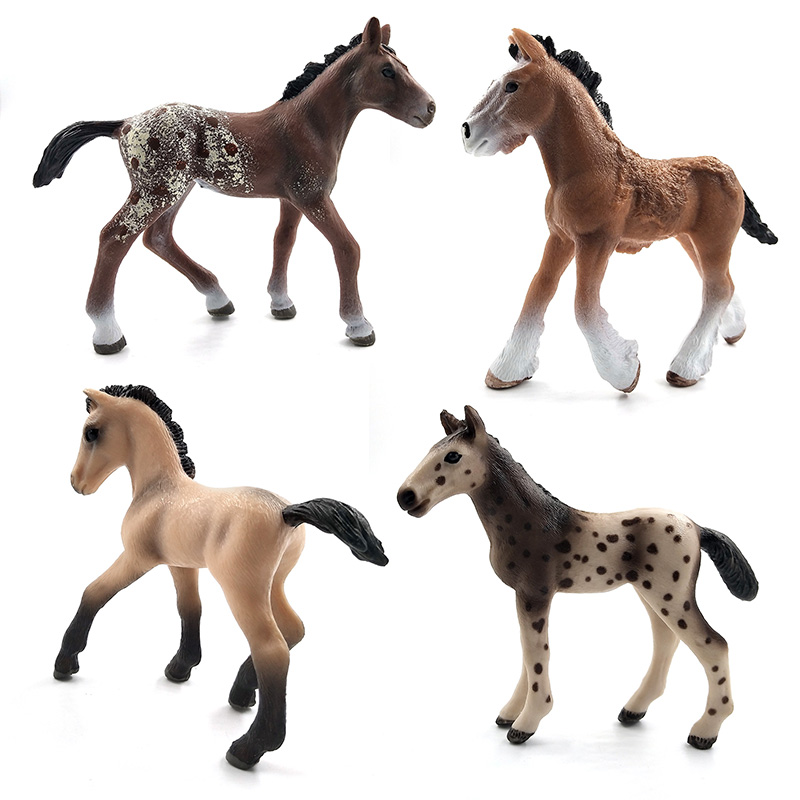 Image 3 - Simulation animal model horses Action Figures children home decor fairy garden decoration accessories figurine Gift For Kids toy-in Action & Toy Figures from Toys & Hobbies