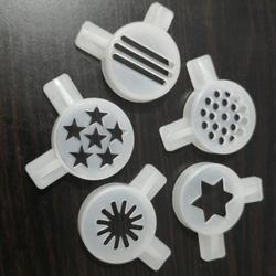 الآيس كريم صانع أجزاء 5 أشكال مختلفة البلاستيك فوهة عدة المعكرونة الغابة الثلوج زهرة sandswiches السداسية