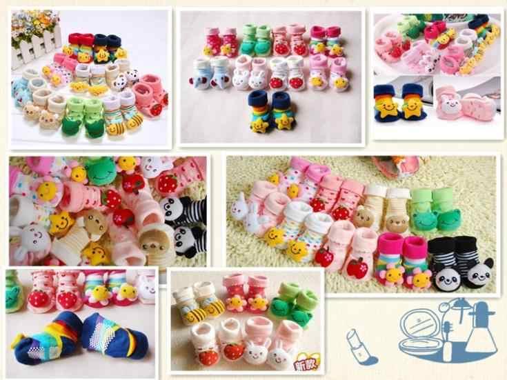 Calcetines de 20 diseños para recién nacidos de 0 a 12 meses calcetines de animales antideslizantes para niñas botas para niños manguera de calidad superior