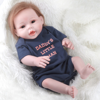 50 55CM 20 Inch Silicone Reborn Baby Dolls Lifelike Baby Doll Best Christmas Gift For Kits
