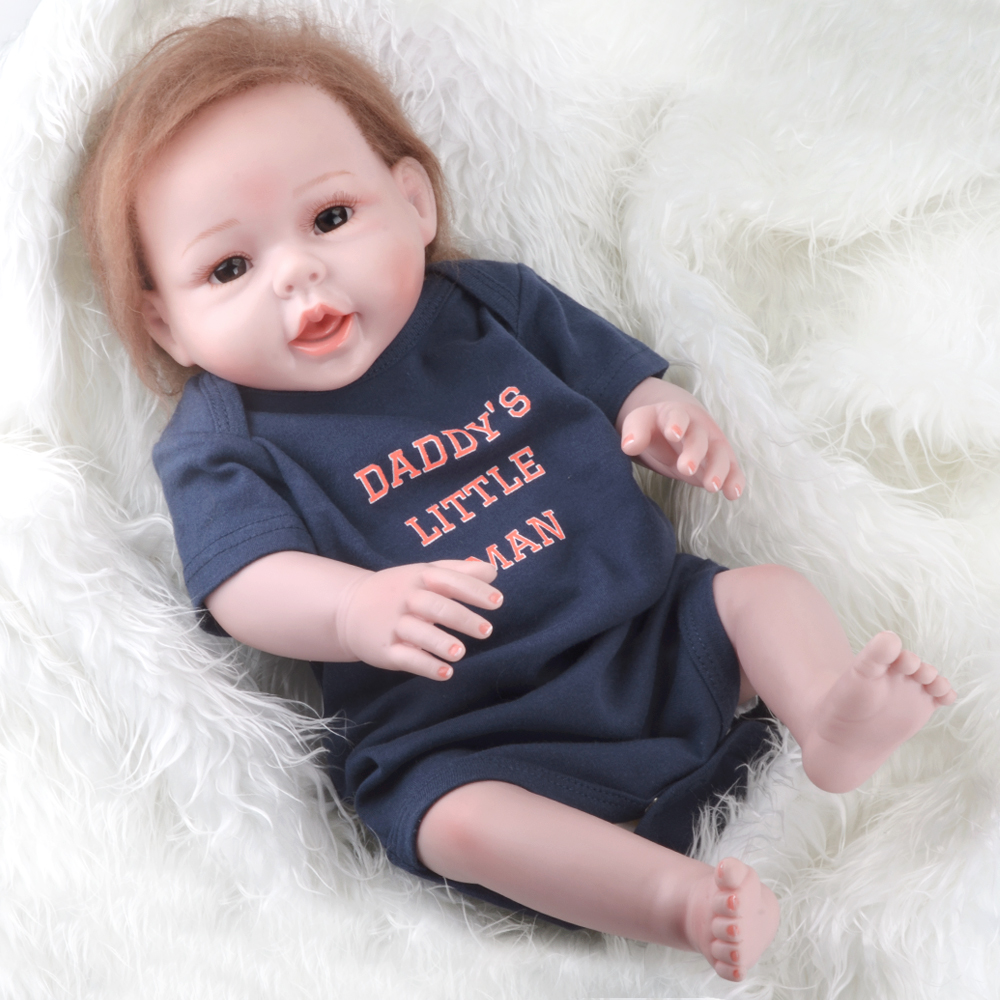 50 55cm 20 inch silicone reborn baby dolls lifelike baby doll best christmas gift for kits bebe for Best reborn baby dolls
