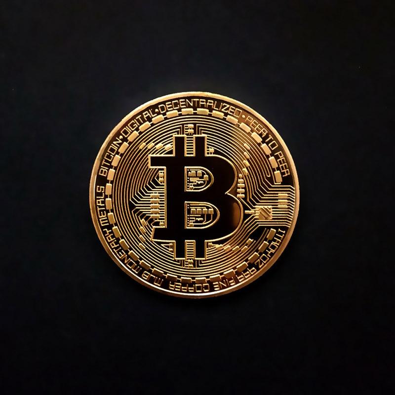 Позолоченные физические биткоины Бит монета BTC с Чехол подарок физический Металл антикварная имитация арт-коллекция монет BTC - Цвет: Gold no shell