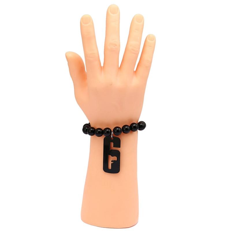 New Game Rainbow Six Siege Bracelet Metal Black Pendant Beads Charm Bracelets Souvenir For Men Women Jewelry Gift