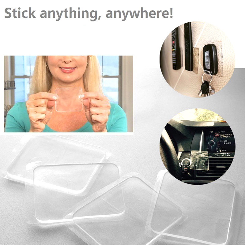 Economical Super Sticky Gripping Pad Clear Double-Sided Adhesive Washable For Home Kitchen Ds99