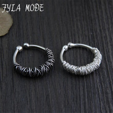Thai Silver Ring Wire Wrapped European Creative Jewelry Vintage Rings for Women Men Unisex