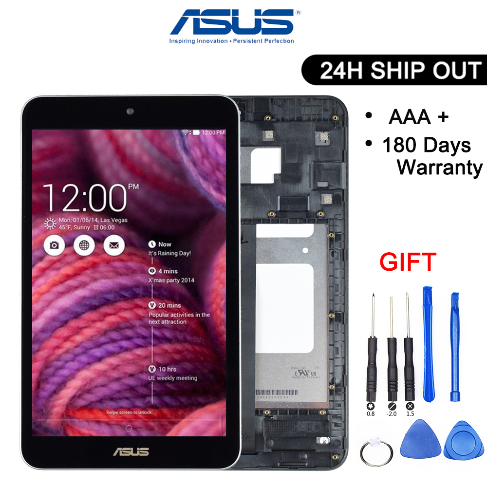 Original 8 Inch For Asus Memo Pad 8 ME181 ME181C K011 LCD Display Digitizer Touch Screen Panel Assembly With Frame Black/White