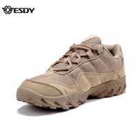 ESDY Men Outdoor Desert Boots U.S Military Assault Tactical Boots Breathable Wear Slip Men Travel Hiking Shoes