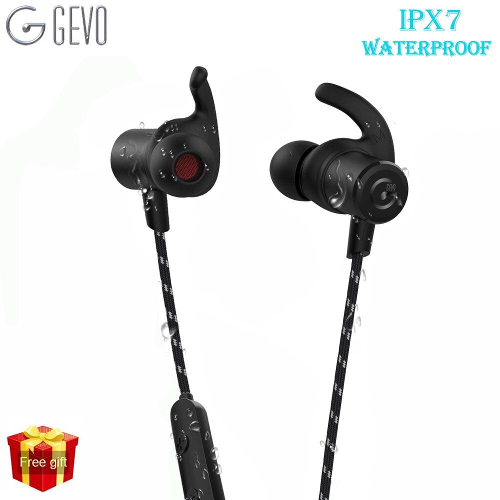 GEVO GV-18BT Wireless Earphone Bluetooth Sport Earbuds With Microphone Magnetic Earphones Waterproof Headphone For IPhone Xiaomi sport running bluetooth earphone for lg g3 beat earbuds headsets with microphone wireless earphones