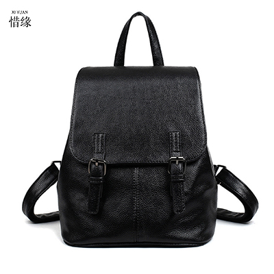Women pu Leather black Backpack red Bolsas Mochila Feminina Large Girl Schoolbag Travel Bag Solid Candy