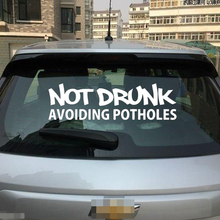цена на Not Drunk Avoiding Potholes Car Styling Sticker Vinyl Decal Jdm Shocker Racing Drift Graphics Jdm