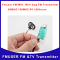 Cantonmade FMUSER FM-M01 Mini bug Micro Audio FM radio Transmitter Listener Device wiretap dictagraph interceptor Free Shipping