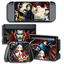 Vinyl Screen Sticker for Castlevania Skins Protector Stickers for Nintendo Switch NS Console + Controller + Stand Sticker