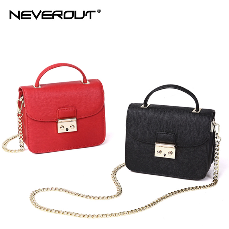 NEVEROUT Split Leather Flap Bags Fashion Messenger Bags for Women Small Mini Crossbody Bag Solid Fashion Black/Red Shoulder Bag aim brand small shoulder bags for women luxury crossbody bags female solid flap bag girl mini black messenger bag tassel w022
