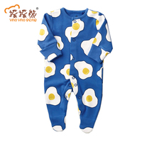 Newborn Baby Boy Clothes Long Sleeve Egg Printed Jumpsuit Baby Romper Bebek Christmas Clothes Superstar Superfly