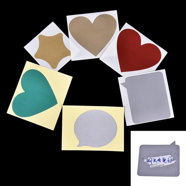 5 pc/lot DIY tarjetas postales del Día de San Valentín revestimiento tarjetas de rasguño mensaje sorpresa oculta Vintage conjunto de tarjetas postales pegatinas