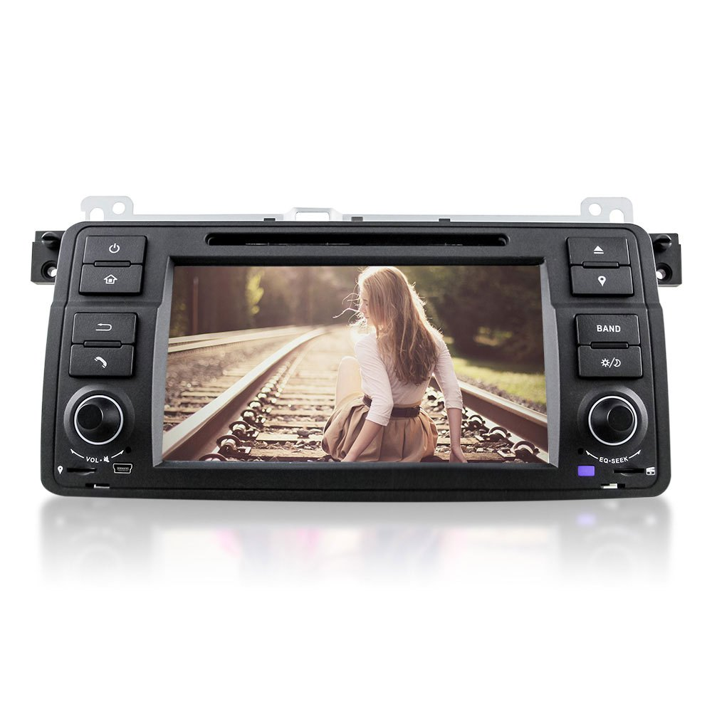 DU7062 Single Din Quad-Core  Android 5.1 Car DVD Stereo Video Player GPS Navigation Automobile In-dash DVD for BMW E46 Car DVD