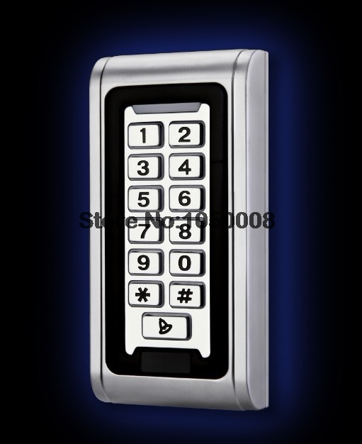IP68 Keypad RFID 13.56mhz Access Control System Proximity Card Standalone 2000 Users Door Access Control Waterproof Metal Case wg input rfid em card reader ip68 waterproof metal standalone door lock access control with keypad support 2000 card users