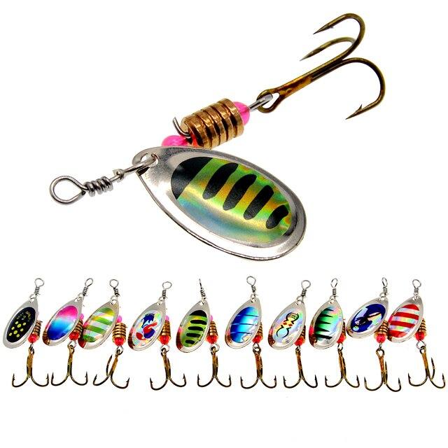 WLDSLURE 2 יח\חבילה ספינר פיתיון 3.5g מתכת דיג פיתוי כף פתיונות קשיח פיתיון עם ווי קרפיון דיג