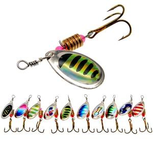 Image 1 - WLDSLURE 2 pz/lotto Spinner Bait 3.5g esca da pesca in metallo cucchiaio esche esca dura con ganci per la pesca alla carpa