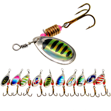 WLDSLURE 2Pcs/Lot Spinner Bait 3.5g Metal Fishing Lure Spoon Lures Hard Bait with  Hooks for Carp Fishing