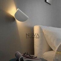 2 sztuk AC100 do AC240V studyl Wnętrza lampy nocne 5 W minimalnej regulowany IO ściany aplikacja biały czarny