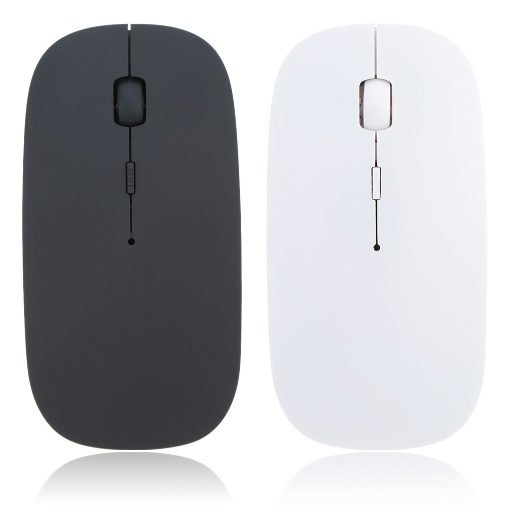 лучшая цена Ultra Thin 2.4GHz Wireless Optical Mouse Computer PC Mice with USB Adapter Mause for all computer laptop Mouse Wireless