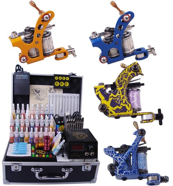 4pcs Top Quality Tattoo Machines Complete Tattoo machine set motor ...