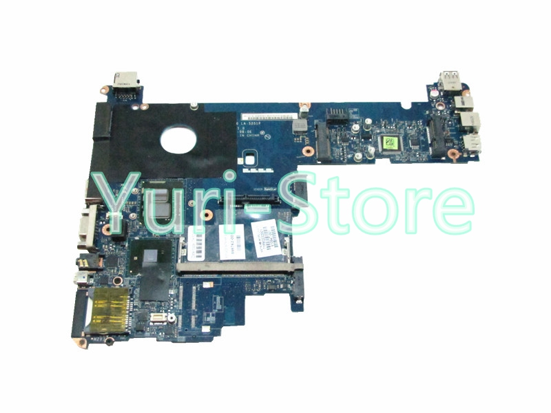 NOKOTION for HP ELITEBOOK 2540P laptop motherboard 598762-001 LA-5251P i7-640LM QM57 GMA HD DDR3 574680 001 1gb system board fit hp pavilion dv7 3089nr dv7 3000 series notebook pc motherboard 100% working