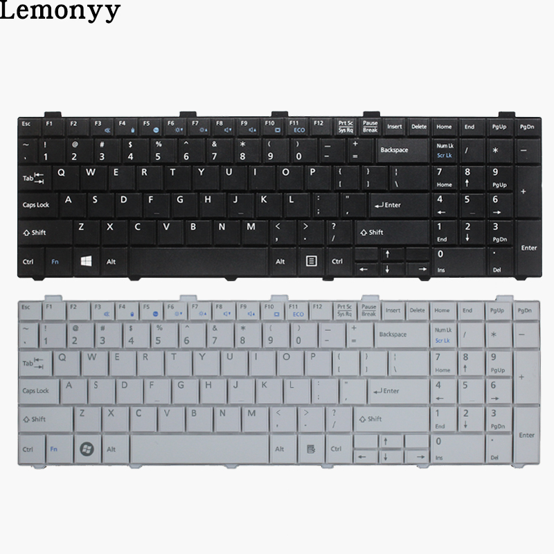 New US Keyboard For Fujitsu Lifebook AH530 AH531 NH751 Black English Laptop Keyboard