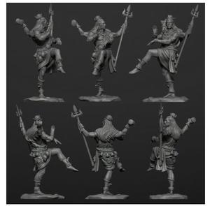 Image 2 - Unassambled 1/32 54Mm Oude Stand God Shiva 54Mm Resin Figuur Miniatuur Model Kits Unpainted