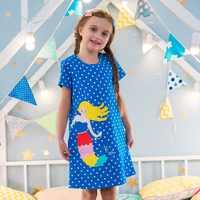 Kleinkind Mädchen Kleidung mit Taschen Kinder Kleid Tunika Tiere Appliqued 2019 Neue Sommer Kinder Kleidung Casual Baby Mädchen Kleider