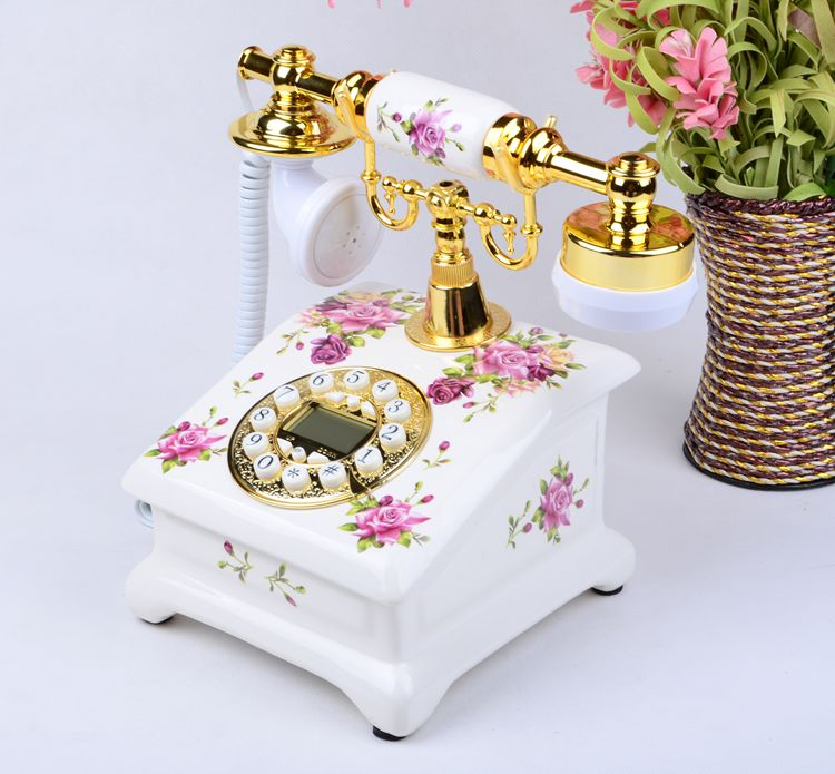 Ye are the top European Garden antique landline retro Home Office telephone Decoration home art electric wood vintage number