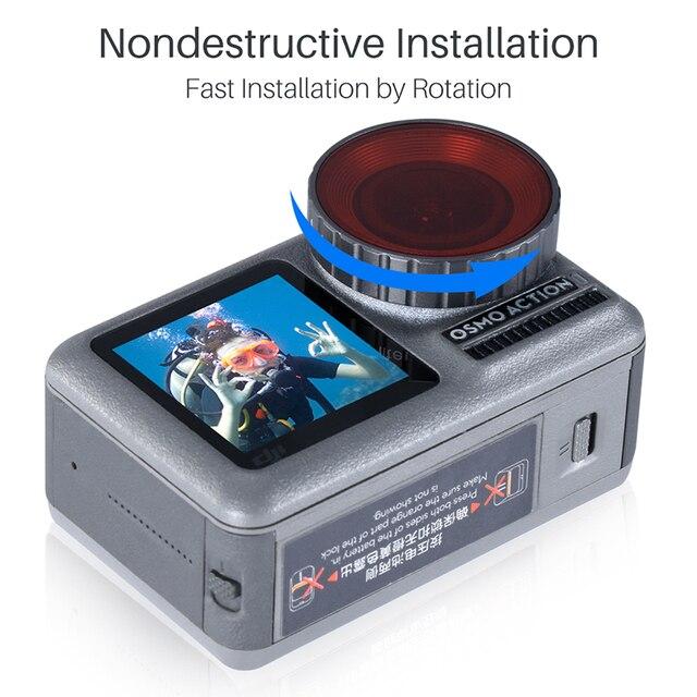 Ulanzi Duiken Filter Kit Voor Dji Osmo Action Optische Glas Rood Paars Dive Swim Osmo Actie Camera Lens Filter Accessoires
