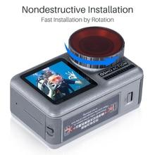 Ulanzi filtr do nurkowania zestaw do Dji Osmo Action szkło optyczne czerwony fioletowy nurkowanie pływać Osmo kamera akcji filtr obiektywu akcesoria